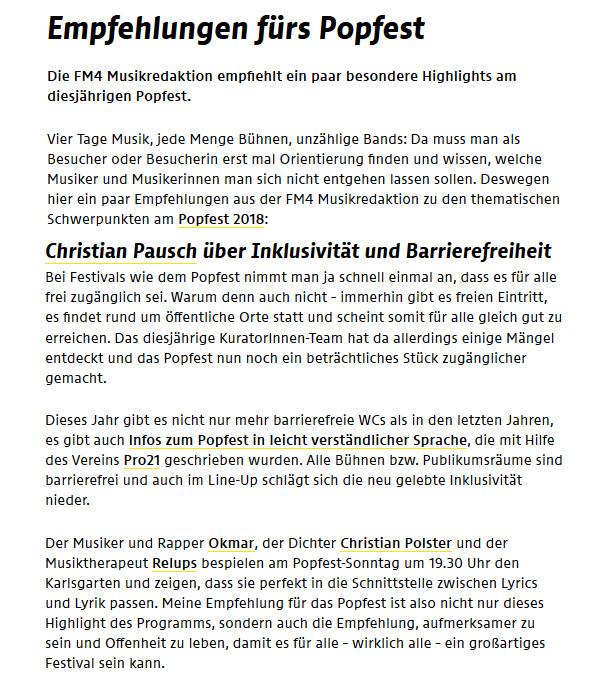 FM4 Empfehlung Popfest aRTIKEL cut ready